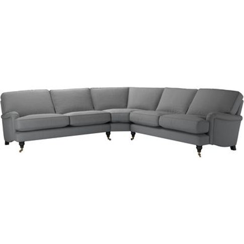 Bluebell Large Corner Sofa In Shadow Brushed Linen C...