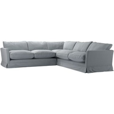 Otto Medium Corner Sofa In Sealion Smart Cotton