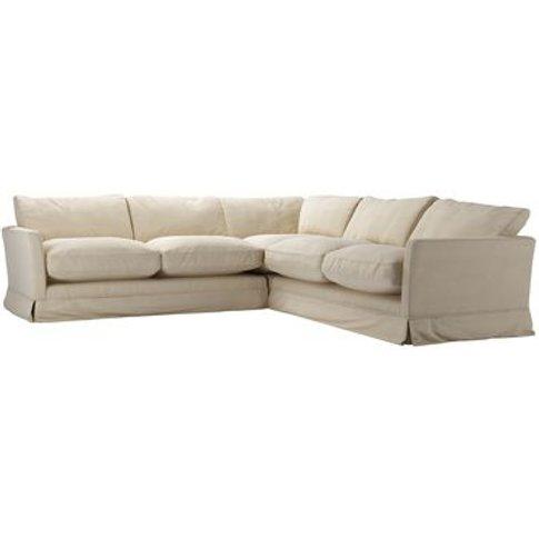 Otto Medium Corner Sofa In Moon Smart Cotton