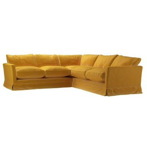 Otto Small Corner Sofa In Butterscotch Cotton Matt Velvet