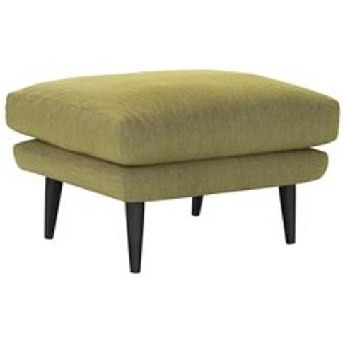 Holly Medium Rectangular Footstool In Chartreuse Che...