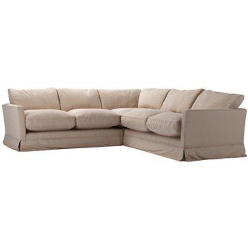 Otto Small Corner Sofa In Mouse Smart Cotton