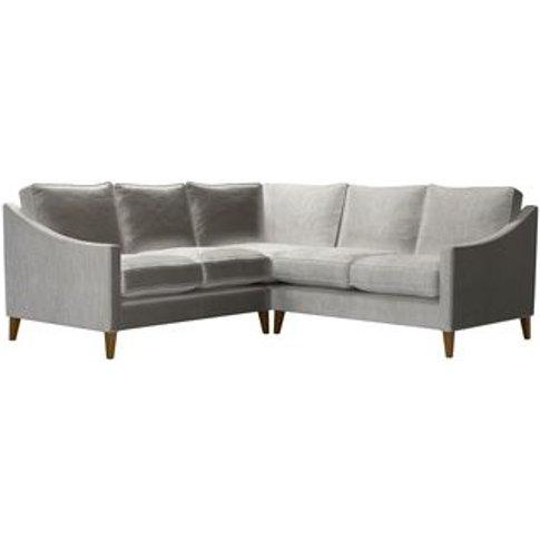 Iggy Small Corner Sofa In Squirrel Cotton Matt Velvet