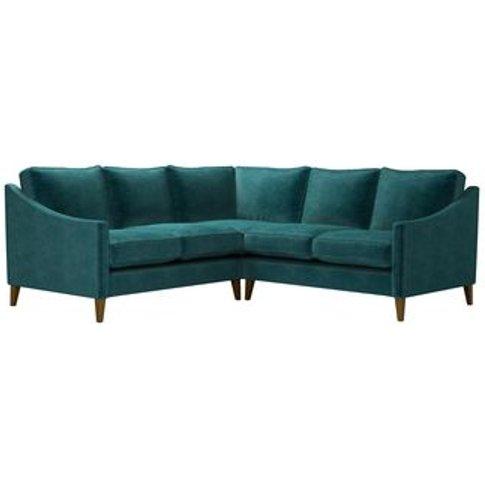 Iggy Small Corner Sofa In Jade Smart Velvet