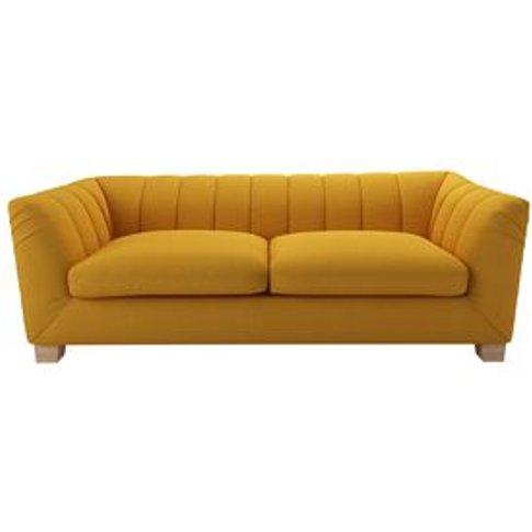 Albie 3 Seat Sofa In Mango Brushed Linen Cotton