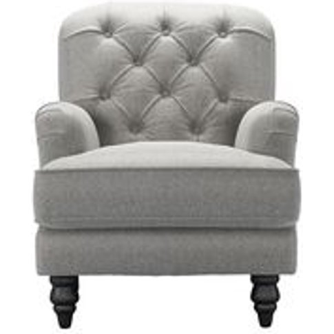 Snowdrop Button Back Small Armchair In Abalone Smart...
