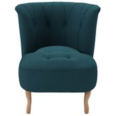 Evie Armchair In Evergreen  Brushed Linen Cotton