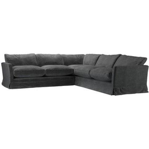 Otto Medium Corner Sofa In Armour Smart Velvet