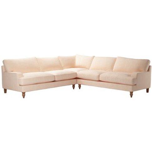 Isla Large Corner Sofa In Peach Sorbet Smart Velvet