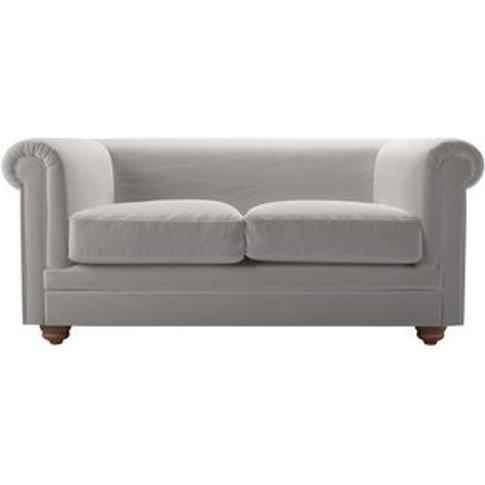 Patrick Unbuttoned 2 Seat Sofa In Dove Smart Velvet