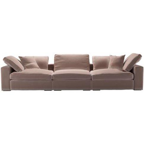 Long Island 3 Seat Sofa In Orchid Cotton Matt Velvet