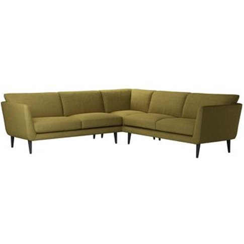 Holly Medium Corner Sofa In Mossymere Norfolk Cotton