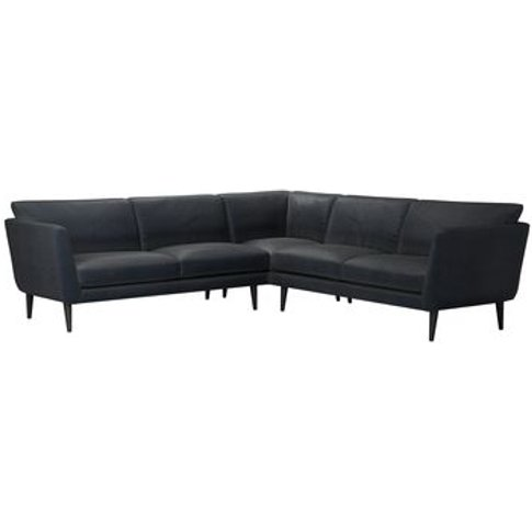 Holly Medium Corner Sofa In Basalt Cotton Viscose Twill