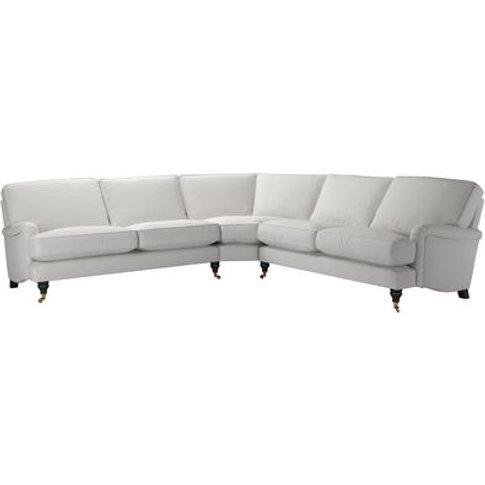 Bluebell Large Corner Sofa In Alabaster Brushed Line...