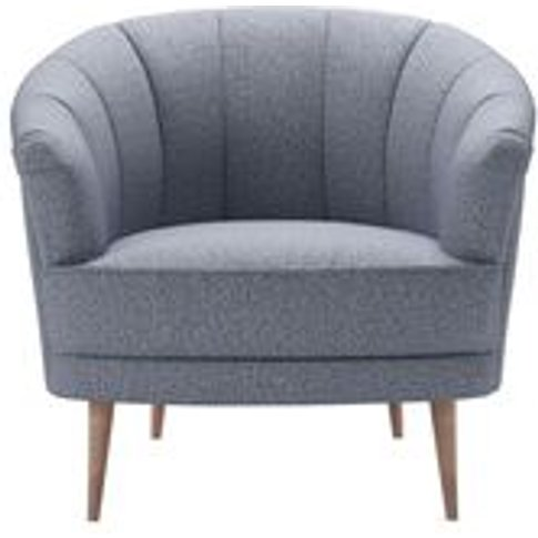 Harper Armchair In Eagle Dappled Viscose Wool