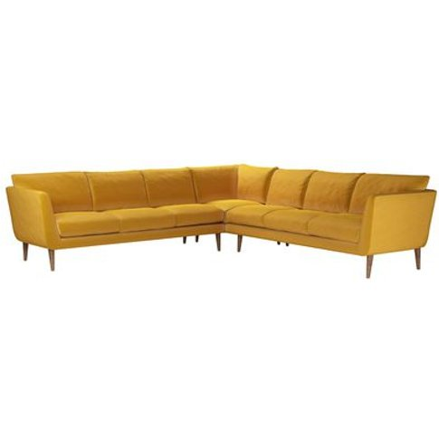 Holly Large Corner Sofa In Butterscotch Cotton Matt ...