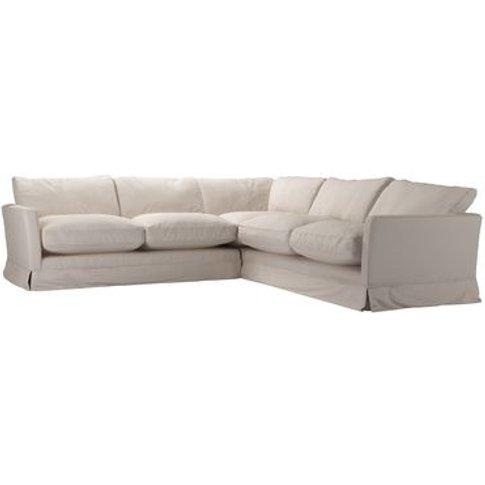 Otto Medium Corner Sofa In Oat Smart Linen