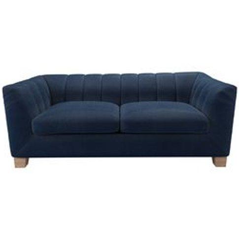 Albie 2.5 Seat Sofa In Egyptian Blue Cotton Viscose ...