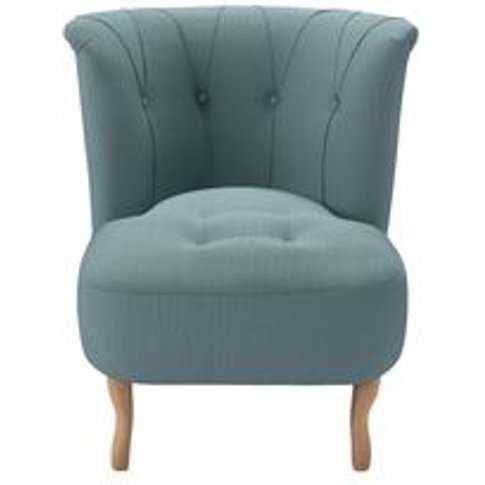 Evie Armchair In Lagoon Brushed Linen Cotton