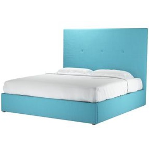 Avery 150cm Super King Ottoman Bed In Blue Raspberry...