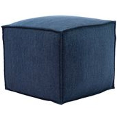 Isaac Small Square Footstool In Como Chenille