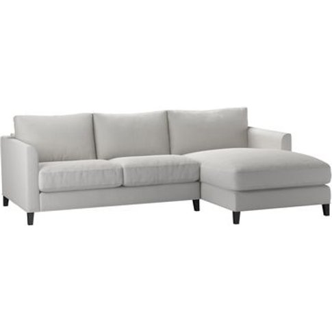 Izzy Small Rhf Chaise Sofa In Alabaster Brushed Line...