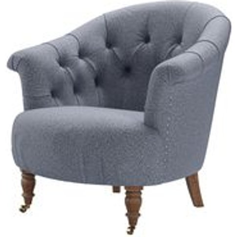 Bertie Armchair In Eagle Dappled Viscose Wool