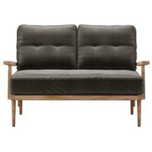 Hendrik 2 Seat Sofa In Elephant Cotton Matt Velvet