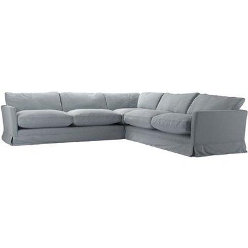 Otto Large Corner Sofa In Sealion Smart Cotton