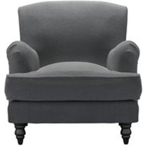 Snowdrop Armchair In Truffle Cotton Viscose Twill