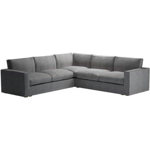 Stella Large Corner Sofa In Earl Grey Smart Velvet