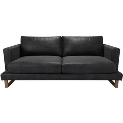 Madison 3 Seat Sofa In Black Bellwether Leather