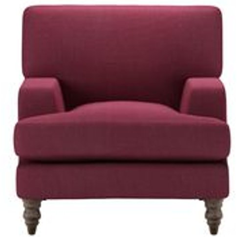 Isla Small Armchair In Boysenberry Brushed Linen Cotton