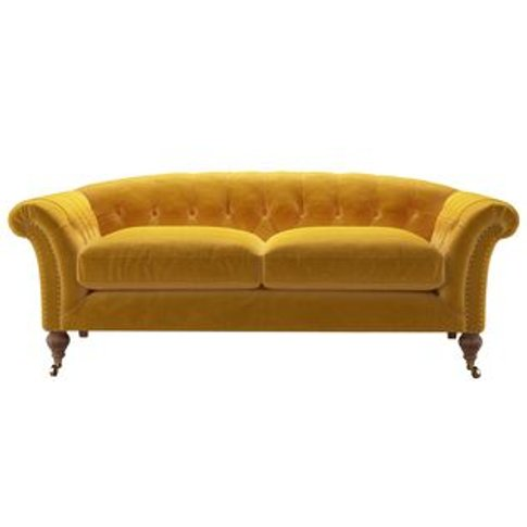 Humphrey 2 Seat Sofa In Butterscotch Cotton Matt Velvet