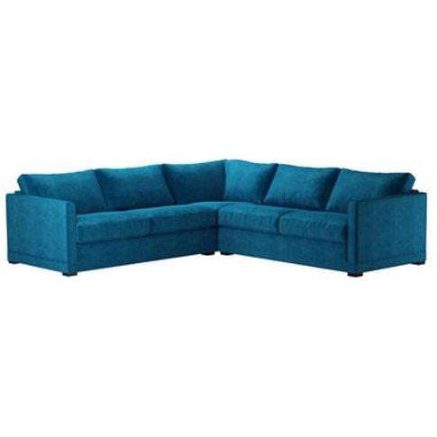 Aissa Medium Corner Sofa In Scuba Smart Velvet