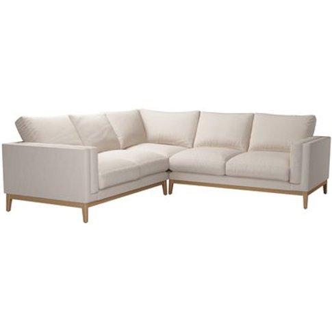 Costello (Plinth) Medium Corner Sofa In Oat Smart Linen