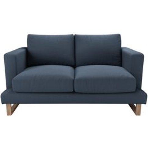 Madison 2 Seat Sofa In Midnight Blue Brushed Linen C...