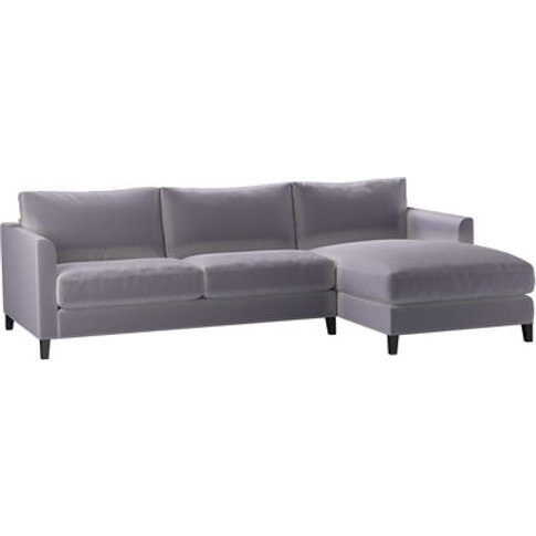Izzy Medium Rhf Chaise Sofa In Chicory Cotton Matt V...