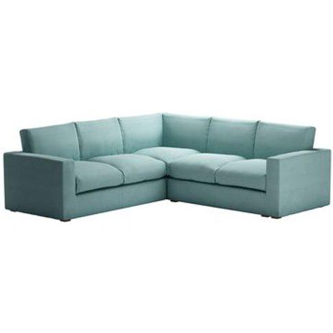 Stella Medium Corner Sofa in Eucalyptus Smart Cotton