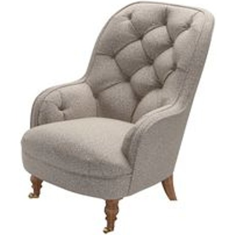 Penelope Armchair In Stag Dappled Viscose Wool