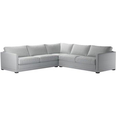 Aissa Large Corner Sofa In Arctic Chessnea Stripe