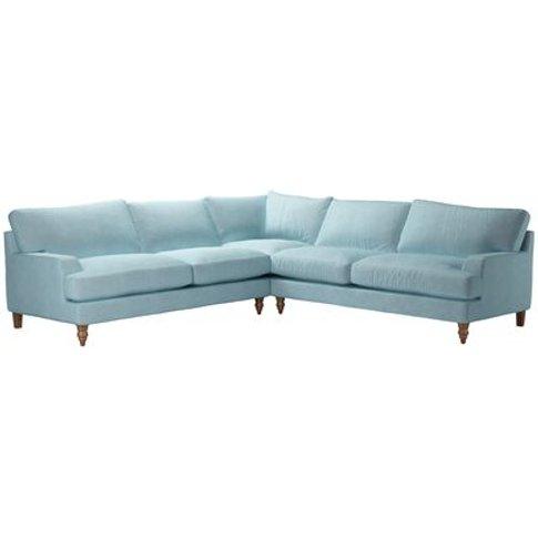 Isla Large Corner Sofa In Powder Blue Smart Velvet