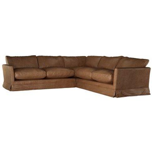 Otto Medium Corner Sofa In Tan Vintage Leather