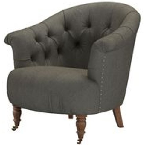 Bertie Armchair In Chia Baylee Viscose Linen
