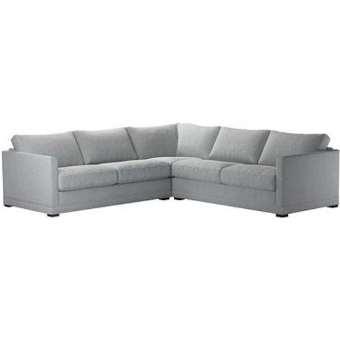 Aissa Medium Corner Sofa In Beluga Chenille