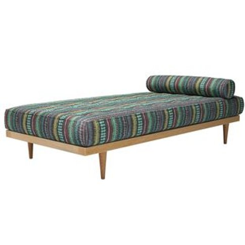 Mabel Daybed in Dusk Lucy Tiffney London Lagoon Stripe