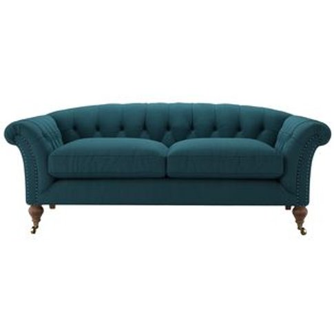 Humphrey 2 Seat Sofa In Evergreen Brushed Linen Cotton