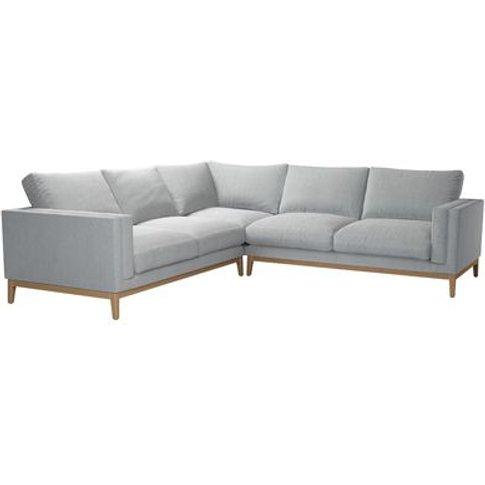 Costello (Plinth) Large Corner Sofa In Beluga Chenille