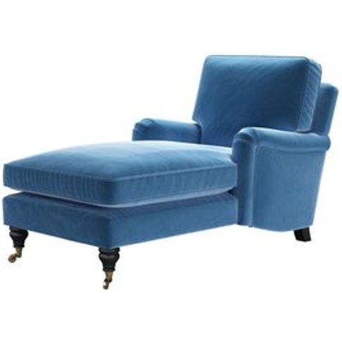 Bluebell Chaise Armchair In Bahama Cotton Matt Velvet