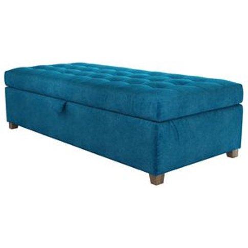 Club Large Rectangular Storage Footstool In Scuba Sm...